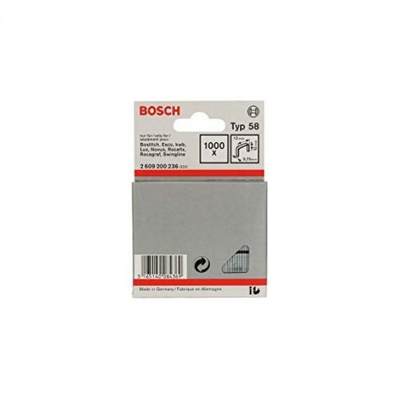 Bosch Professional Bosch Agrafe à Fil Fin de Type 58, 13mm x 10mm, Lot de 1000