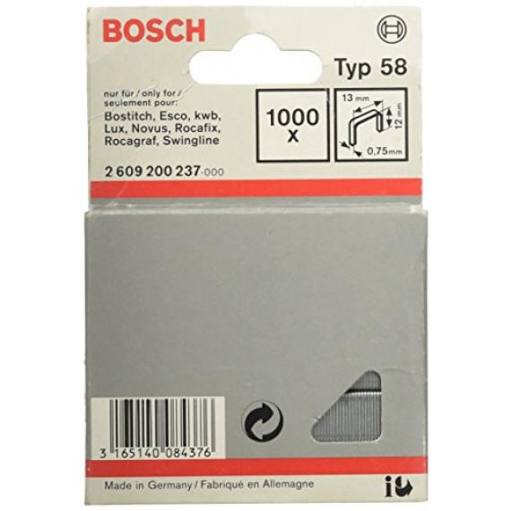 Bosch Professional Agrafe à Fil Fin de Type 58, 13mm x 12mm, Lot de 1000