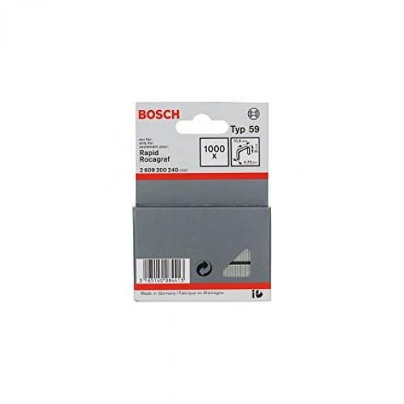 Bosch Professional Bosch 2609200240 Agrafe à fil fin de type 59 10,6 x 0,72 x 8 mm