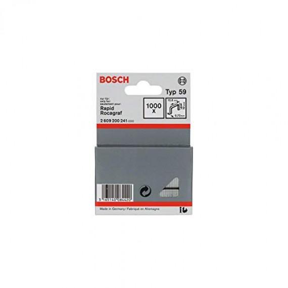 Bosch Professional Agrafe à Fil Fin de Type 59, 10.6mm x 10mm, Lot de 1000