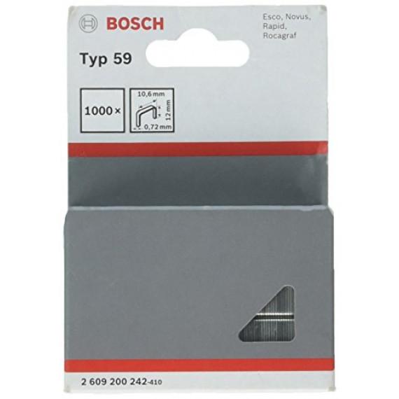 Bosch Professional Agrafe à Fil Fin de Type 59, 10.6mm x 12mm, Lot de 1000