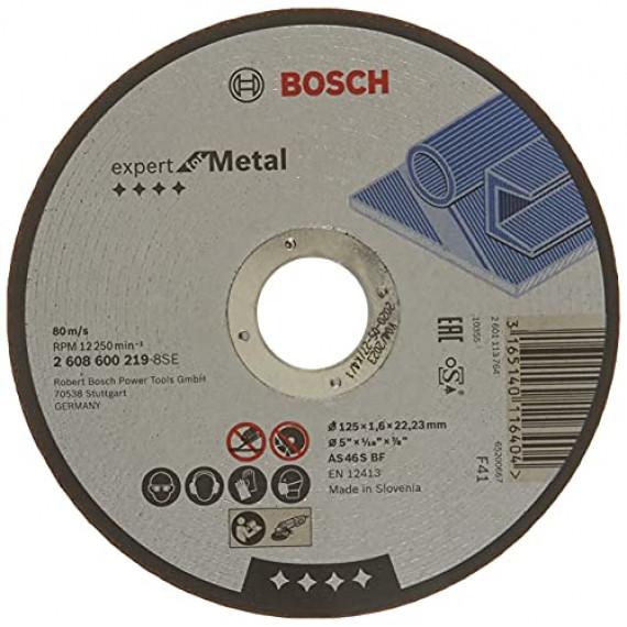 Bosch Professional Bosch 2608600219 Disque à Tronçonner à moyeu plat expert for metal AS 46 S BF 125 mm 1,6 mm