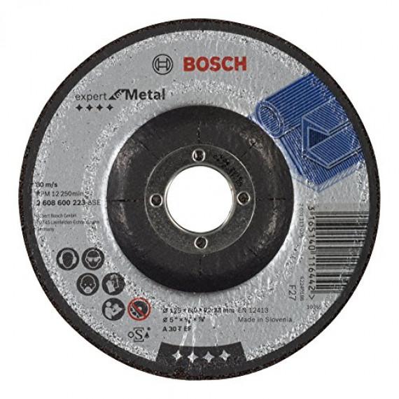 Bosch Professional Bosch 2608600223 Meule à ébarber à moyeu déporté expert for metal A 30 T BF 125 mm 6,0 mm