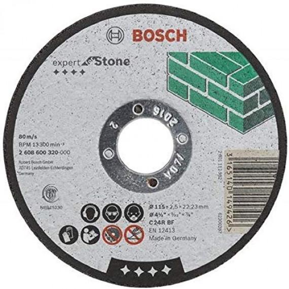 Bosch Professional Bosch 2608600320 Disque à Tronçonner à moyeu plat expert for stone C 24 R BF 115 mm 2,5 mm