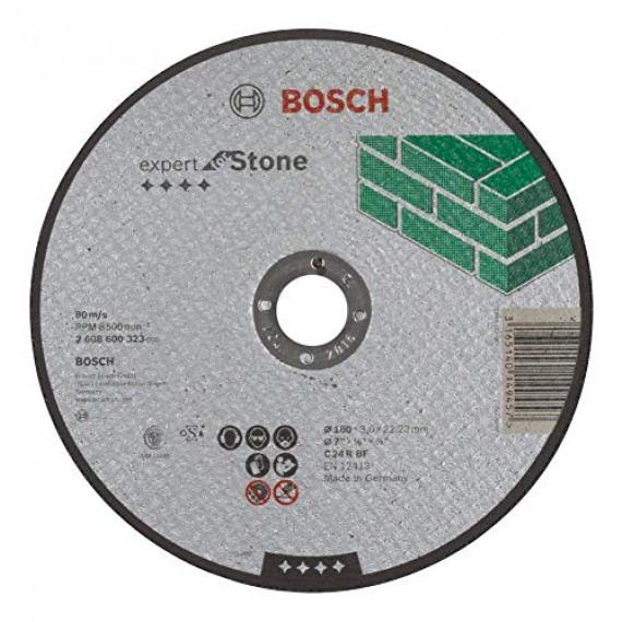 Bosch Professional Bosch 2608600323 Disque à Tronçonner à moyeu plat expert for stone C 24 R BF 180 mm 3,0 mm