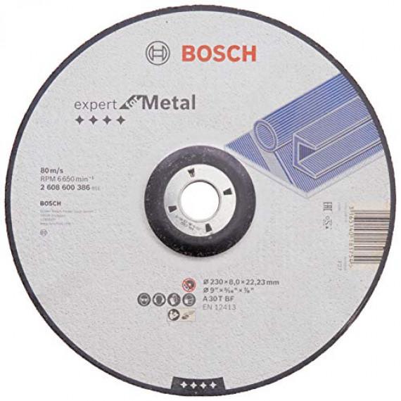 Bosch Professional 2608600386 Bosch Meule à ébarber pour acier, Gris, 230 mm, 8,0 mm, 1 pièce