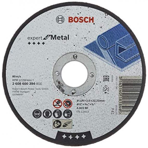 Bosch Professional Bosch 2608600394 Disque à Tronçonner à moyeu plat expert for metal A 30 S BF 125 mm 2,5 mm