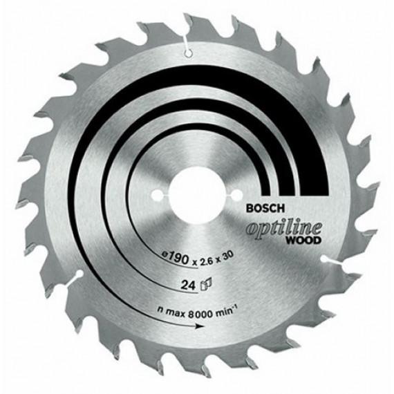 Lame de scie Bosch Optiline 190x30 mm