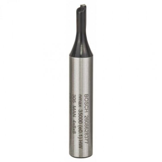 Bosch Professional Bosch 2608628377 Fraise à rainurer 8 mm / 4 x 8 x 51 mm