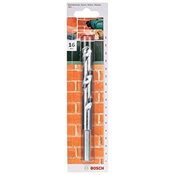 Bosch Professional Bosch 2609255453 Foret à matériaux ISO 5468 Diamètre 16 mm Longueur 150 mm Diamètre queue 12,7 mm