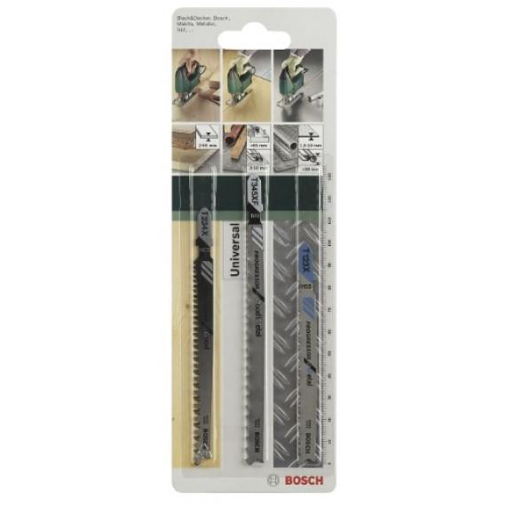 Bosch Professional Bosch 2609256743 Lot de 3 lames pour Scie sauteuse Queue Progressor T