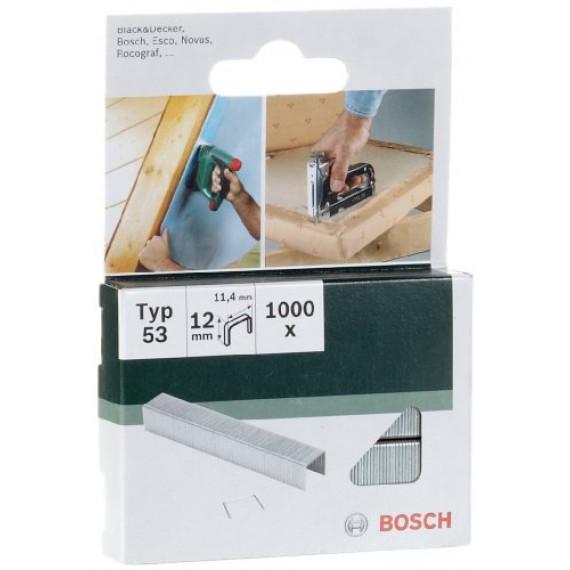 Bosch Professional Bosch 2609255822 Agrafe 11,4 x 0,74 x 12 mm Type 53 Lot de 1000