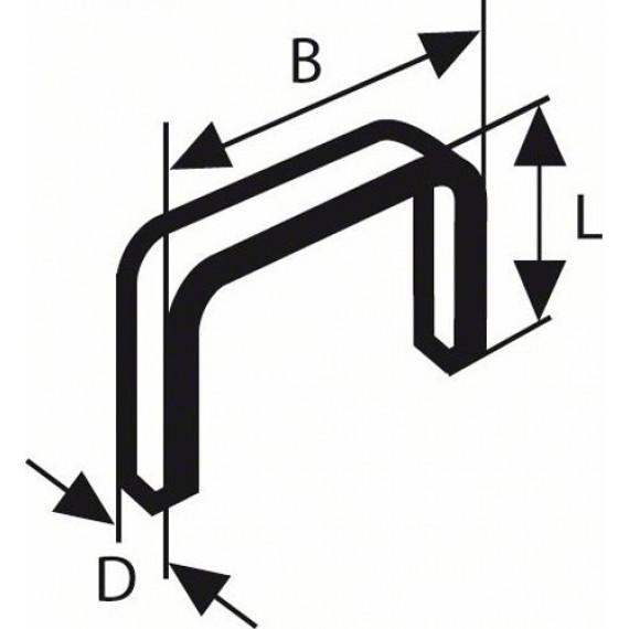 Bosch Professional Bosch 2609255833 Set de 1000 agrafes à fil plat Type 51 Largeur 10 mm Epaisseur 1 mm Longueur 10 mm