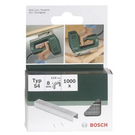 Bosch Professional Bosch 2609255839 Set de 1000 agrafes à fil plat Type 54 Largeur 12,9 mm Epaisseur 1,25 mm Longueur 6 mm