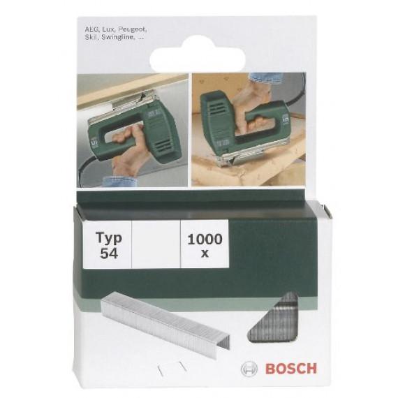 Bosch Professional Bosch 2609255841 Set de 1000 agrafes à fil plat Type 54 Largeur 12,9 mm Epaisseur 1,25 mm Longueur 10 mm