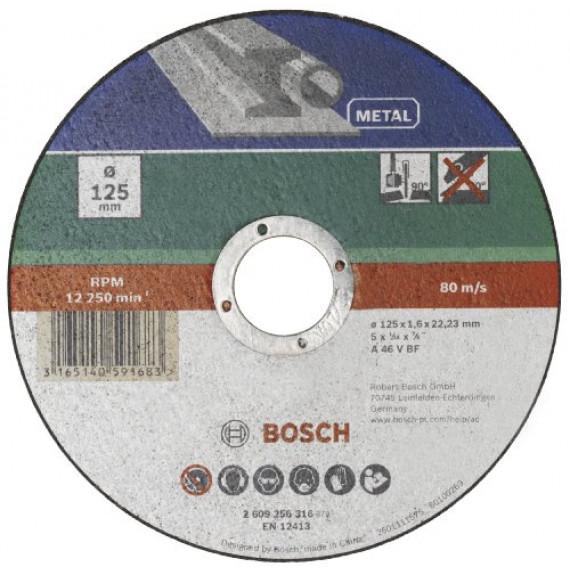 Bosch Professional Bosch 2609256316 Disque à tronçonner à moyeu déporté pour Métaux Diamètre 125 mm Diamètre d'alésage 22/23 Epaisseur 1,6 mm