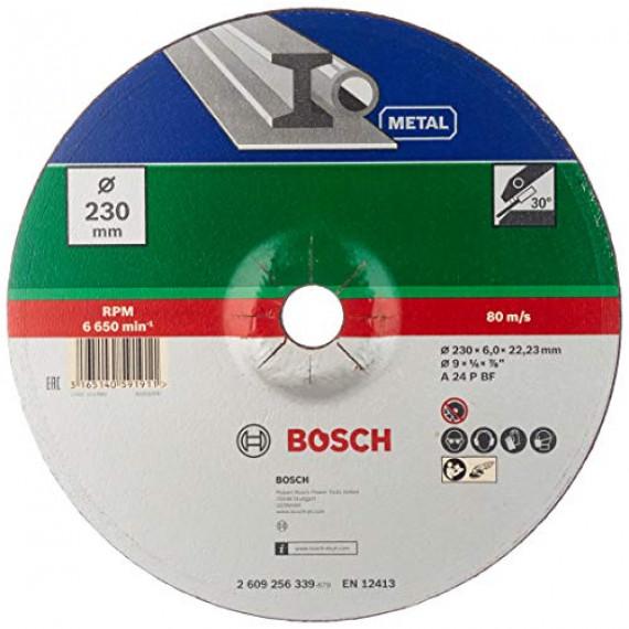Bosch Professional Bosch 2609256339 Meule à ébarber à moyeu déporté pour Métaux Diamètre 230 mm Diamètre d'alésage 22,23 Epaisseur 6 mm