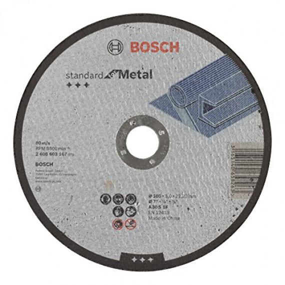 Bosch Professional Bosch 2608603167 Disque à tronçonner à moyeu plat standard for metal A 30 S BF 180 mm 22,23 mm 3,0 mm