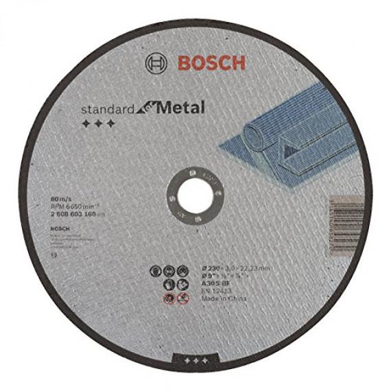 Bosch Professional Bosch 2608603168 Disque à tronçonner à moyeu plat standard for metal A 30 S BF 230 mm 22,23 mm 3,0 mm