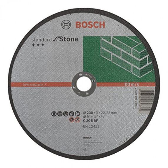 Bosch Professional Bosch 2608603180 Disque à tronçonner à moyeu plat standard for stone C 30 S BF 230 mm 22,23 mm 3,0 mm