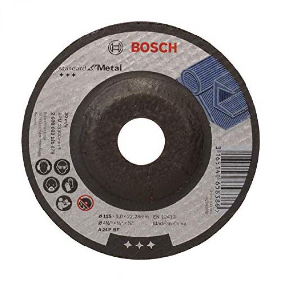 Bosch Professional 2608603181 Meule à ébarber pour métal coudés, Noir, 115 x 6 mm