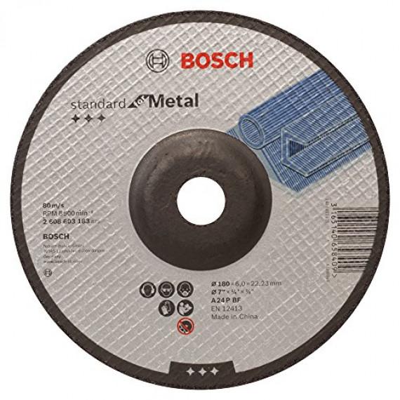 Bosch Professional Bosch 2608603183 Meule à ébarber à moyeu déporté standard for metal A 24 P BF 180 mm 22,23 mm 6,0 mm