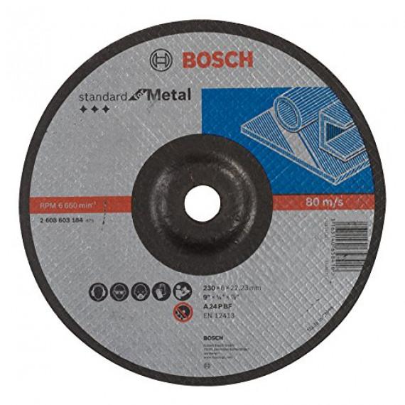 Bosch Professional Bosch 2608603184 Meule à ébarber à moyeu déporté standard for metal A 24 P BF 230 mm 22,23 mm 6,0 mm