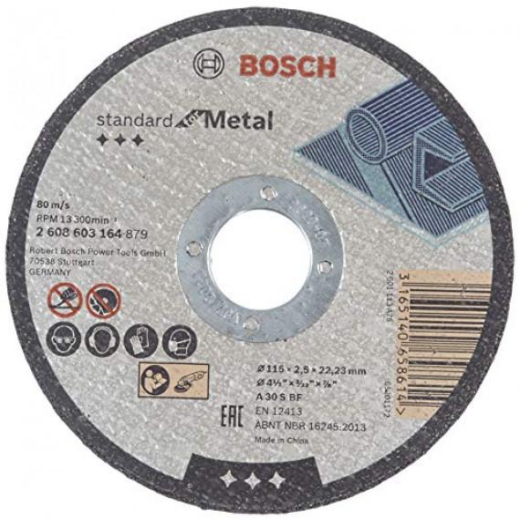 Bosch Professional Bosch 2608603164 Disque à tronçonner à moyeu plat standard for metal A 30 S BF 115 mm 22,23 mm 2,5 mm