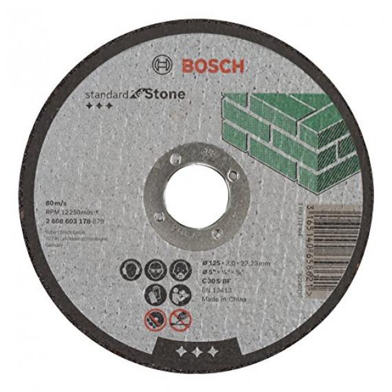 Bosch Professional Bosch 2608603178 Disque à tronçonner à moyeu plat standard for stone C 30 S BF 125 mm 22,23 mm 3,0 mm