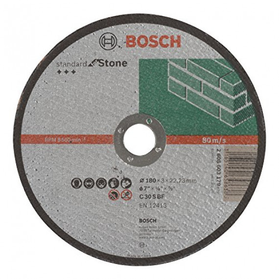 Bosch Professional Bosch 2608603179 Disque à tronçonner à moyeu plat standard for stone C 30 S BF 180 mm 22,23 mm 3,0 mm