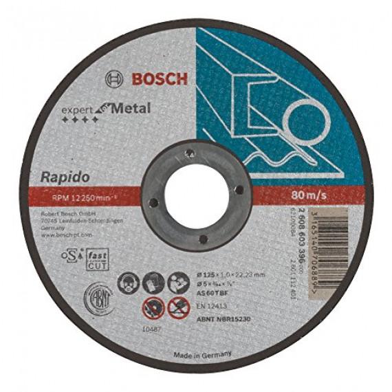 Bosch Professional Bosch 2608603396 Disque à tronçonner à moyeu plat expert for metal rapido AS 60 T BF 125 mm 1,0 mm