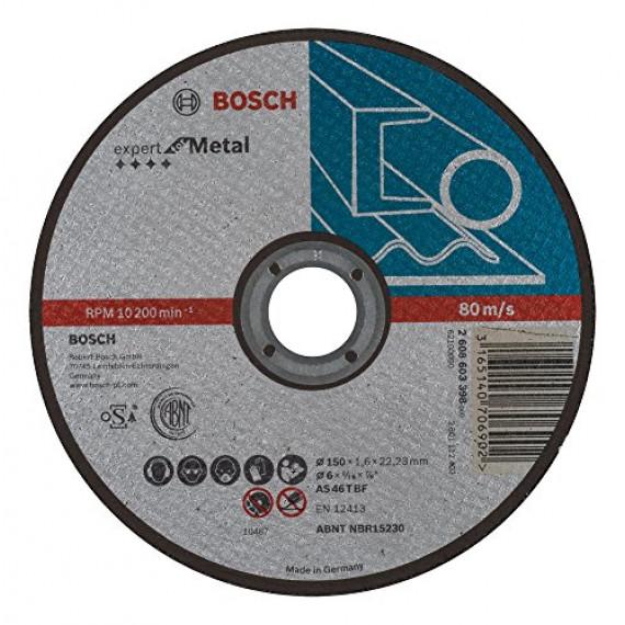 Bosch Professional Bosch 2608603398 Disque à tronçonner à moyeu plat expert for metal AS 46 T BF 150 mm 1,6 mm