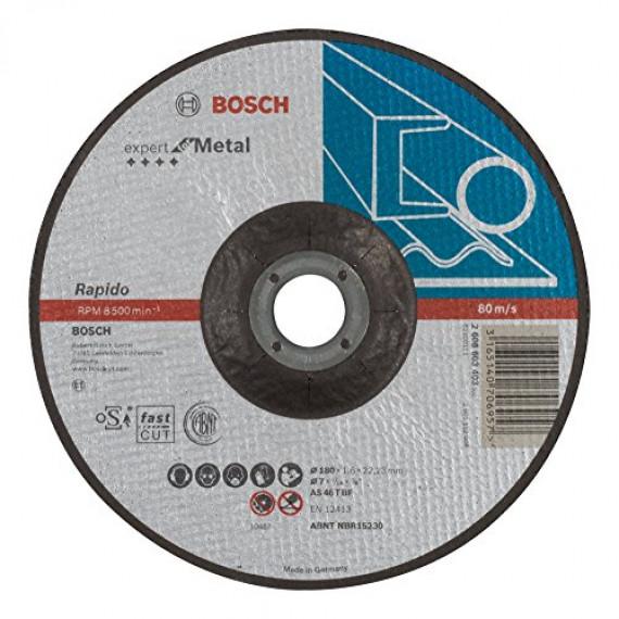 Bosch Professional Bosch 2608603403 Disque à tronçonner à moyeu déporté expert for metal rapido AS 46 T BF 180 mm 1,6 mm