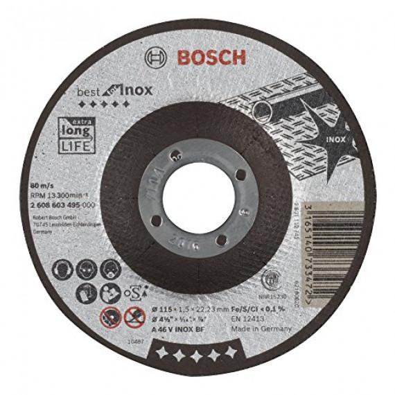 Bosch Professional Bosch 2608603495 Disque à tronçonner à moyeu déporté best for inox A 46 V inox BF 115 mm 1,5 mm