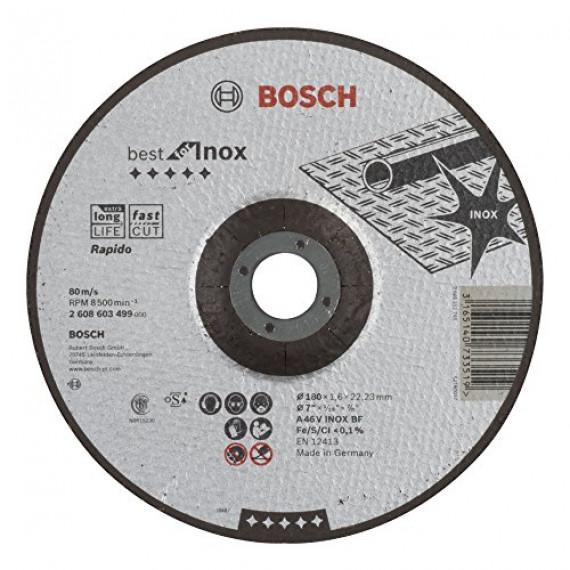 Bosch Professional Bosch 2608603499 Disque à tronçonner à moyeu déporté best for inox rapido A 46 V inox BF 180 mm 1,6 mm