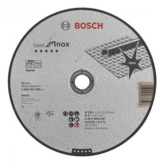 Bosch Professional Bosch 2608603500 Disque à tronçonner à moyeu plat best for inox rapido A 46 V inox BF 230 mm 1,9 mm