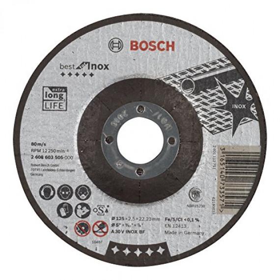 Bosch Professional Bosch 2608603505 Disque à tronçonner à moyeu déporté best for inox A 30 V inox BF 125 mm 2,5 mm