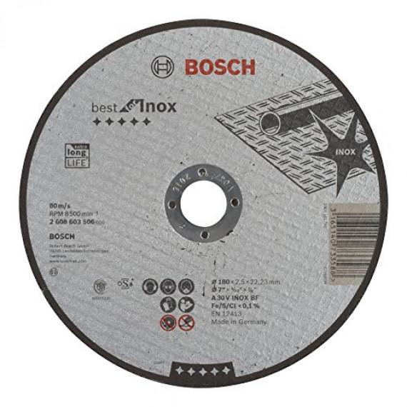 Bosch Professional Bosch 2608603506 Disque à tronçonner à moyeu plat best for inox A 30 V inox BF 180 mm 2,5 mm