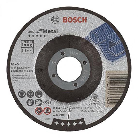 Bosch Professional Bosch 2608603517 Disque à tronçonner à moyeu déporté best for metal A 46 V BF 115 mm 1,5 mm