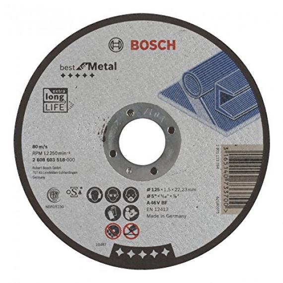 Bosch Professional Bosch 2608603518 Disque à tronçonner à moyeu plat best for metal A 46 V BF 125 mm 1,5 mm