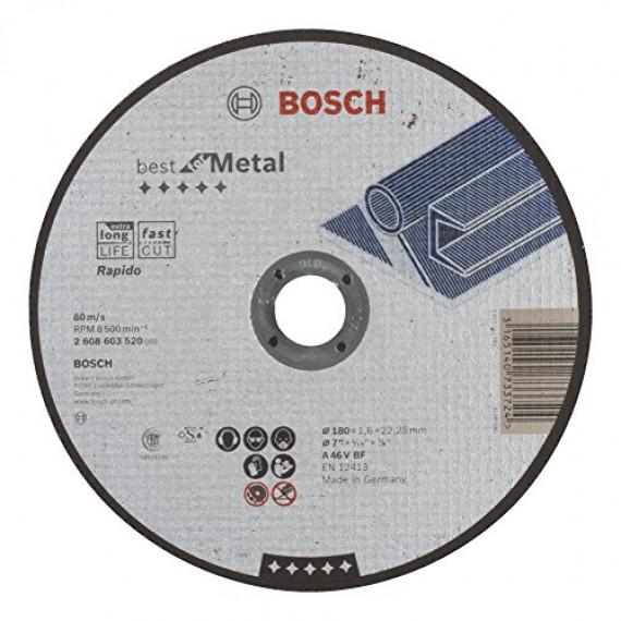 Bosch Professional Bosch 2608603520 Disque à tronçonner à moyeu plat best for metal rapido A 46 V BF 180 mm 1,6 mm