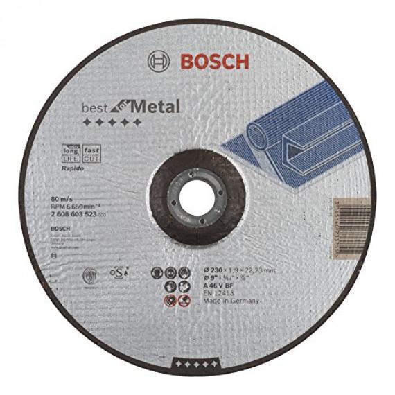 Bosch Professional Bosch 2608603523 Disque à tronçonner à moyeu déporté best for metal rapido A 46 V BF 230 mm 1,9 mm