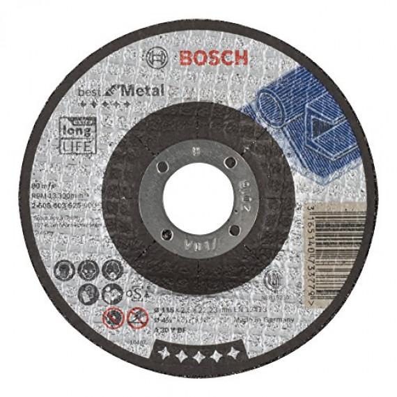 Bosch Professional Bosch 2608603525 Disque à tronçonner à moyeu déporté best for metal A 30 V BF 115 mm 2,5 mm