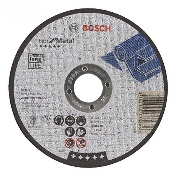 Bosch Professional Bosch 2608603526 Disque à tronçonner à moyeu plat best for metal A 30 V BF 125 mm 2,5 mm