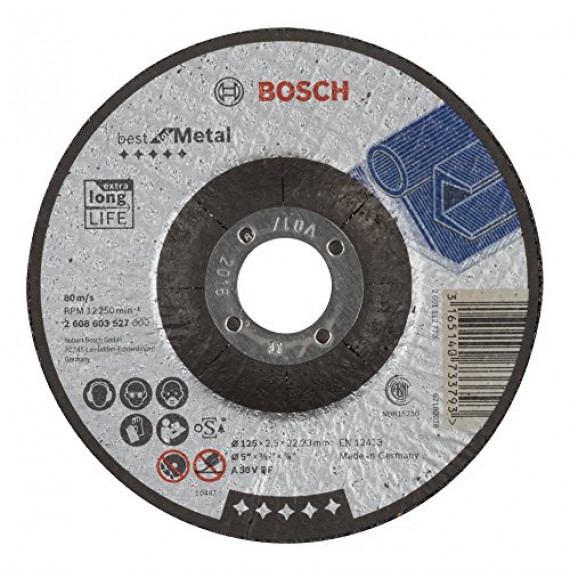 Bosch Professional Bosch 2608603527 Disque à tronçonner à moyeu déporté best for metal A 30 V BF 125 mm 2,5 mm