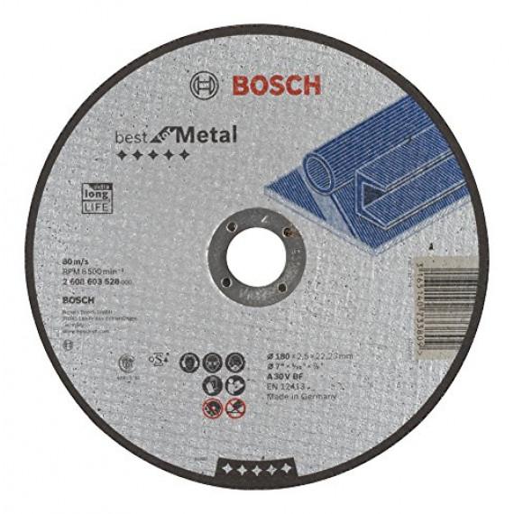 Bosch Professional Bosch 2608603528 Disque à tronçonner à moyeu plat best for metal A 30 V BF 180 mm 2,5 mm