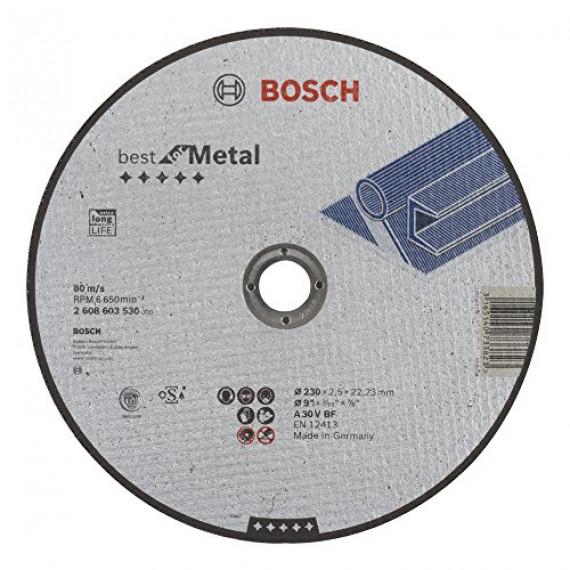 Bosch Professional Bosch 2608603530 Disque à tronçonner à moyeu plat best for metal A 30 V BF 230 mm 2,5 mm