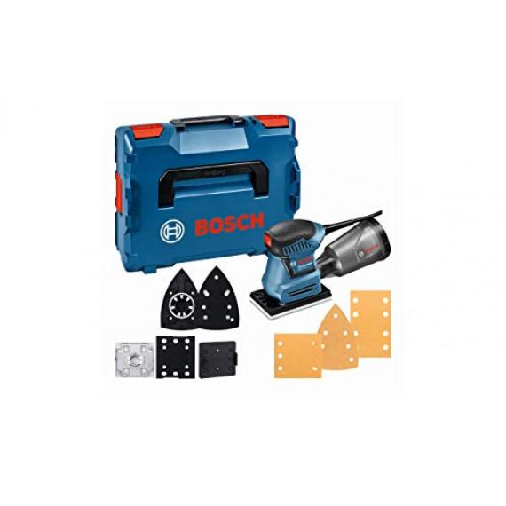Bosch Professional Ponceuse Vibrante GSS 160-1 A Multi (180 W, Diamètre d'Amplitude 1,6 mm, dans une L-BOXX) Bleu