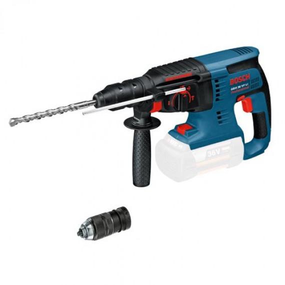 Bosch Professional Perforateur Sans-Fil SDS Plus GBH 36 VF-LI Plus (36 V, Force de frappe max. : 3,2 J, Ø de perçage dans le béton : 4-28 mm, Pack d'accessoires, L-Boxx)