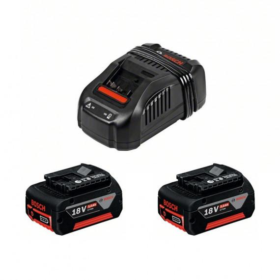 Batteries + chargeur Bosch GAL 1880 CV + 2x 5 Ah 18 Volt